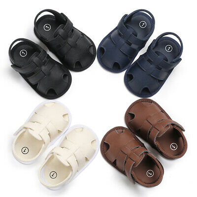 US Toddler Kids Soft Sole PU Leather Shoes Baby Boy Casual Sandals Prewalker New