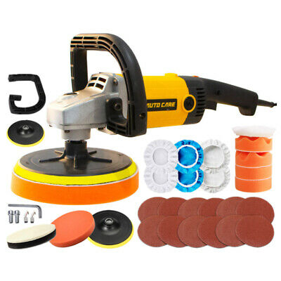 "1200W 5"" 7"" Car Polisher Buffer Waxer Polishing Machine Pads Ceramic Coating Kit"