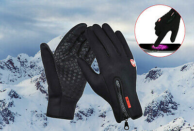 Winter Warm Windproof Waterproof Anti-slip Thermal Touch Screen Gloves for Men