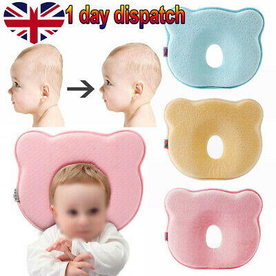 Newborn Baby Cot Pillow Prevent Flat Head Memory Foam Cushion Sleeping Support✔