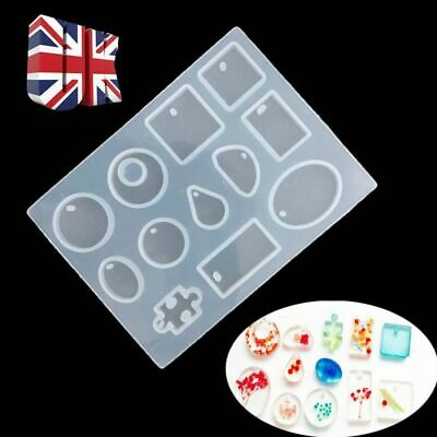 Design Silicone Pendant Mold Making Jewelry For Resin Necklace Mould Craft DIY