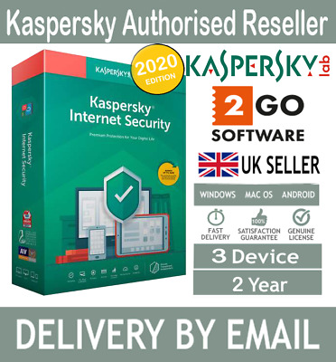 KASPERSKY INTERNET SECURITY 2020 3 PC MULTI DEVICE - 2 YEARS LICENSE - Download