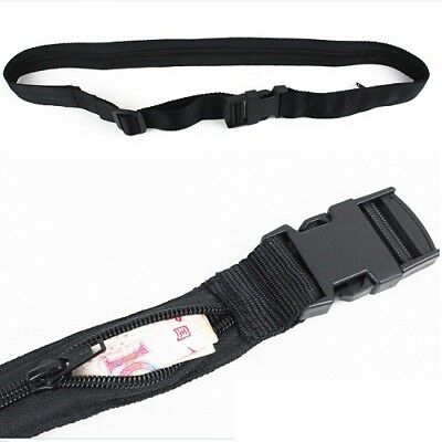 Secret Security Zip Pocket Hidden Travel Waist Money Belt Wallet Ticket Protect