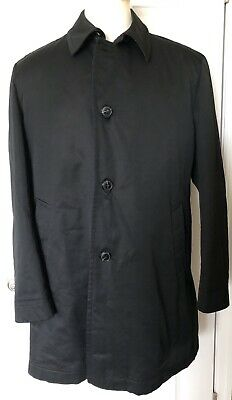 HUGO BOSS Men's Size XL 46 Fendu Car Coat Jacket Overcoat Black Reg $595