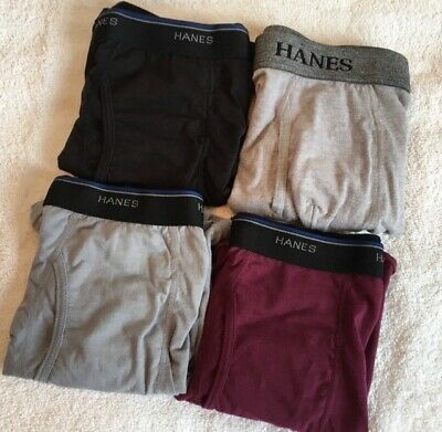 Hanes 4Pack Men's Underwear Tagless Boxer Briefs Assorted/Solid Colors & Bands