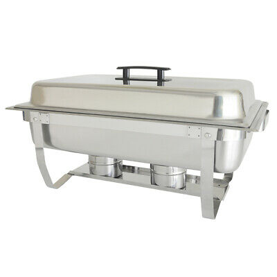 Thunder Group 8 Quart Full Size Stainless Steel Chafer w/ Folding Stand
