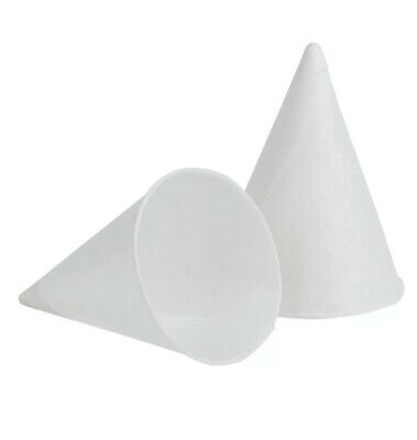 Genpak 200 Count 4 oz. Disposable White Rolled Rim Paper Cone Cups