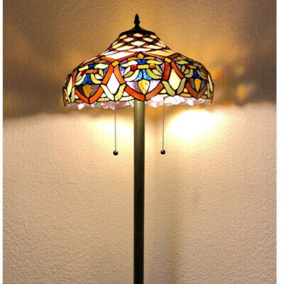 Tiffany Style Baroque Theme Stained Glass Floor Lamp