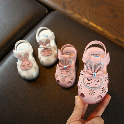 Infant Children Kid Baby Girls Flat Led Luminous Cartoon Casual Shoes Sandals US