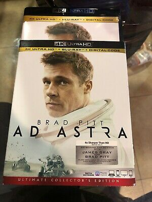 Ad Astra 4K Ultra HD/Blu-Ray with SLIPCOVER 2019 Brad Pitt No digital