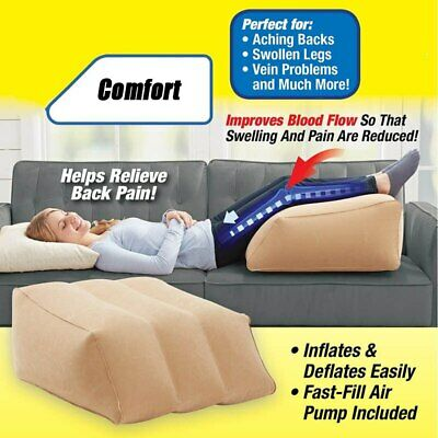Portable Soft Leg Relaxation Inflatable Pillow Cushion Air Foot Rest Office Home