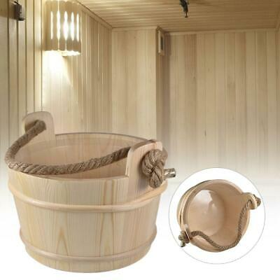 New Sauna Wooden Bucket Pail Combined Set Sauna Room Shower Supplies Accessory