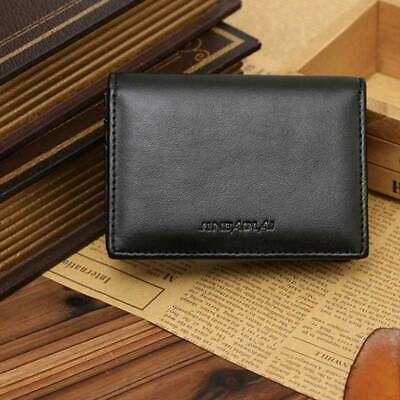 1*Small RFID Real Leather Wallet Luxury Men Credit Card Holder Case Coin Purse