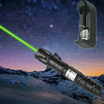 Laser Pointer Pen Lazer 50Mile Military 1mW Green Lamp 532nm Visble Beam Charger