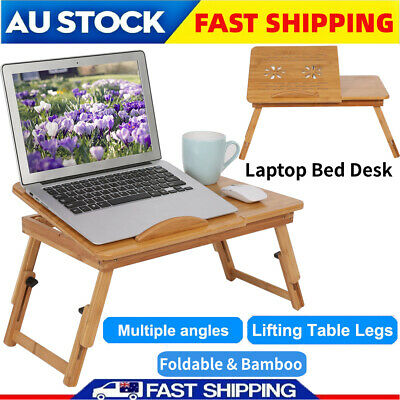 Reading Laptop Lap Stand Desk Table Tray sofa bed Mouse Foldable Adjustable