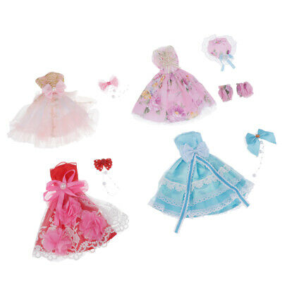 """Fashion Princess Dress Clothes Set Fit for 36cm 14"""" Girls Lady Dolls Outfits"""