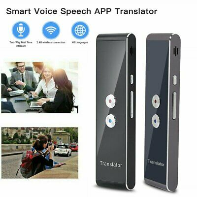 Smart Instant Voice Translator Two-Way Real Time Pocket Interpreter for Meeting