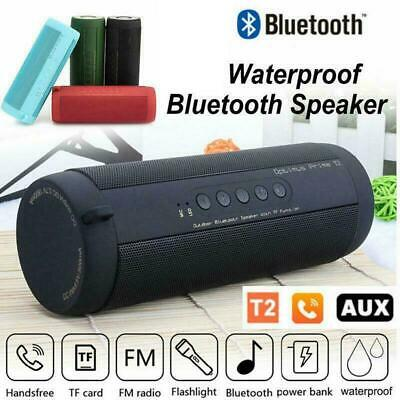Wireless Bluetooth Stereo Speaker Waterproof Shower Portable Outdoor TF FM Radio