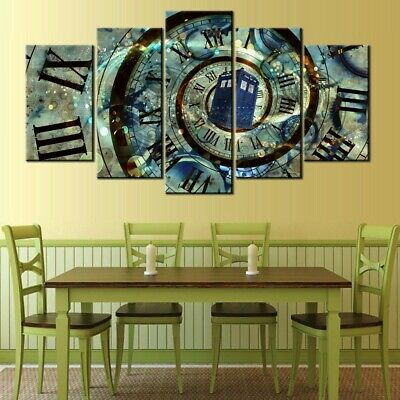 Time Spiral Abstract Fantasy 5pc Poster Canvas Art Wall Home Decor Canvas Print