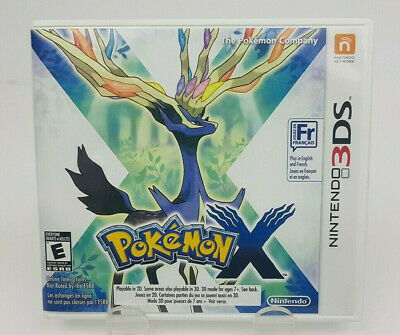 Pokemon X (Nintendo 3DS, 2013) Complete W/ French Manual