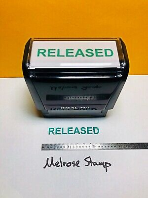 Released Self Inking Rubber Stamp Green Ink Ideal 4913