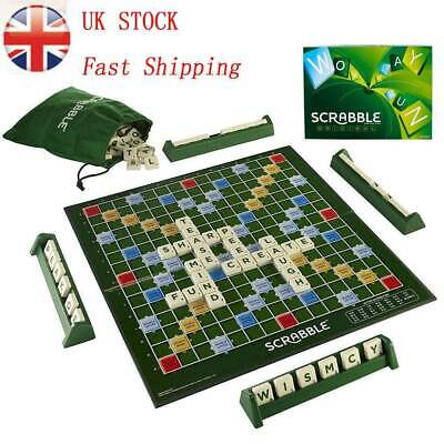Original scrabble board game Crossword Funny Family Children Party Game Travel