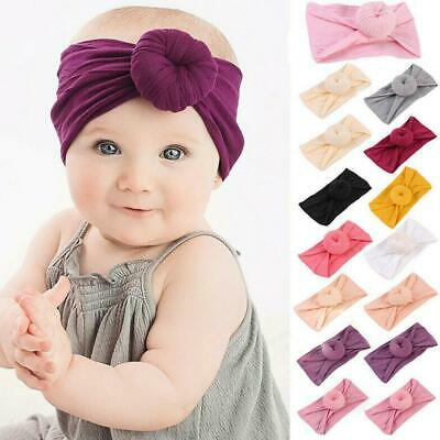 Baby Girls Kids Toddler Bow Knot Hairband Headband Stretch Turban Head Wrap best