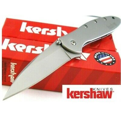 Kershaw 1660 Leek Gray Framelock Assisted Opening Folding Knife Pocket Folder