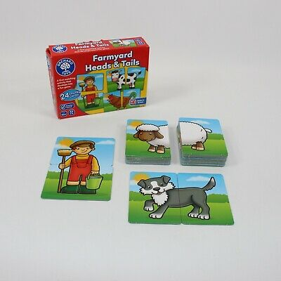 Orchard Toys Farmyard Heads & Tails Early Education Puzzle Game