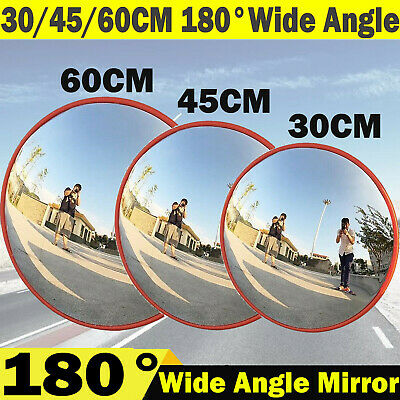 180° Security Wide Angle Mirror Convex Traffic Road Safety Driveway View Outdoor
