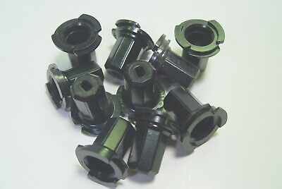 10 NEVER USED HARD TO FIND FLANGED BACK PLUGS FOR PARAMOUNT /& OTHER DECORATIONS.