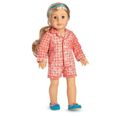American Girl ~Tenney's ~Gingham Pajamas Pjs ~For Doll ~New In Ag Box ~Free Ship