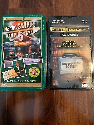 Deal Or No Deal & Are You Smarter Than 5th Grader Card Game Unopened By Cardinal