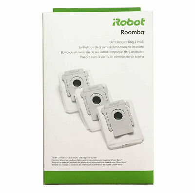 iRobot Authentic Replacement Parts- Roomba i7 and i7+ Clean Base 3-Pack 4640235
