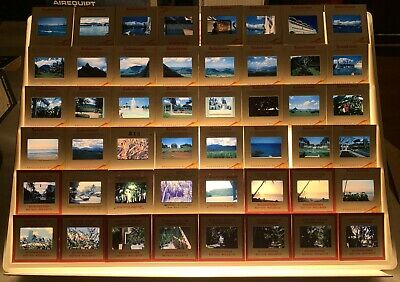 Lot of 390 Vintage 35mm Photo Vacation Slides Hawaii Canada Hover Dam Etc