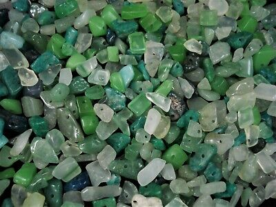 Gemstone Chips 50g Green/Lime/Turquoise Jewellery Spacer Jewelry FREE POSTAGE
