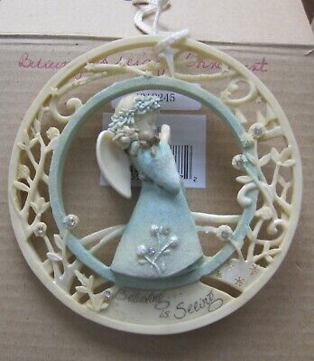 Foundations 4058718 Woodland Angel With Chickadees Ornament 2017