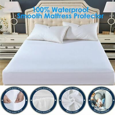 Terry Towelling Waterproof Mattress Protector 30CM 40CM Extra Deep Fitted Sheet