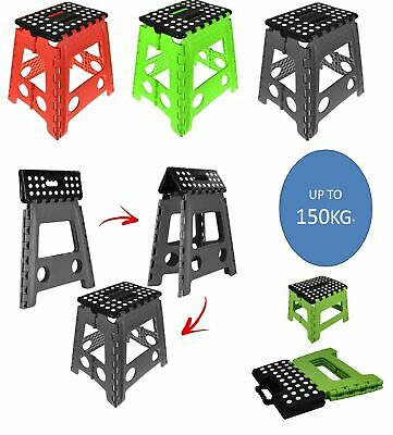 HEAVY DUTY LARGE FOLDING STEP STOOL KITCHEN HOME DIY Assorted Colours 150Kg Max