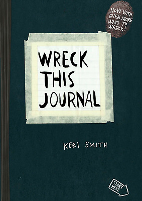 Wreck This Journal Everywhere by Keri Smith Free Shipping new Color
