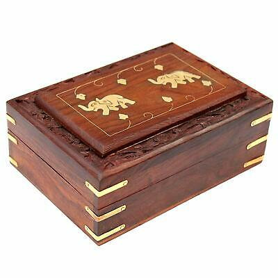 Handmade Wooden Jewellery Box for Women Jewel Organizer Hand Carved Carvings Gif