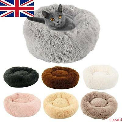 80cm Pet Dog Cat Calming Bed Comfy Large Mat Puppy Washable Fluffy Cushion UK