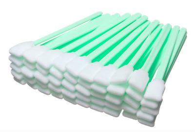 50PCS Foam Swabs For Cleaning Solvents, Print Head, Flux Removers, Lenses, Lint