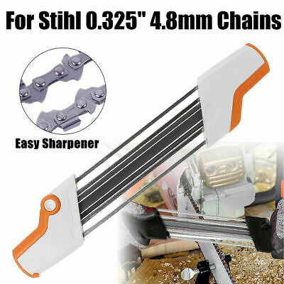 """2 IN 1 Metal Easy Chainsaw Chain File Sharpener 0.325"""" 4.8mm Replace For Stihl"""