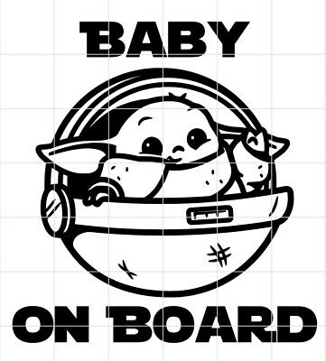 Baby Yoda Baby On Board Decal The Mandalorian The Child Star Wars
