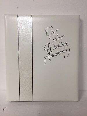 A5  WEDDING ALBUM PERSONALISED 1509SBK SILVER ANNIVERSARY GUEST BOOK