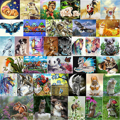 DIY 5D Full Drill Diamond Painting Animal Embroidery Cross Stitch Art Home Decor