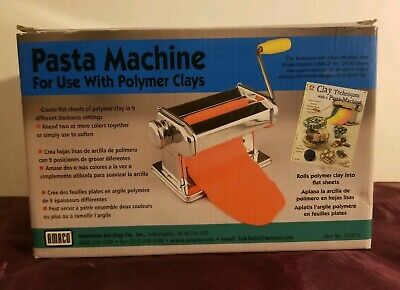 Amaco Pasta Machine For Use With Clamps Soft Metal Sheets & Polymer Clays - New