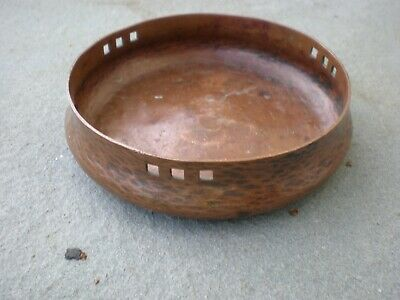 Antique Older Mark Arts & Crafts Rare Roycroft Hammered Copper Bowl