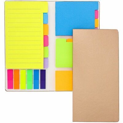 600 Neon Fluorescent Sticky Post Its Index Tabs Text Book Pagee Markers 5 COLORS